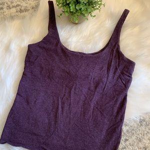 Victorias Secret Purple Cropped Tank Top Size M